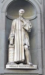 פסל של מקיאוולי בעירו פירנצה