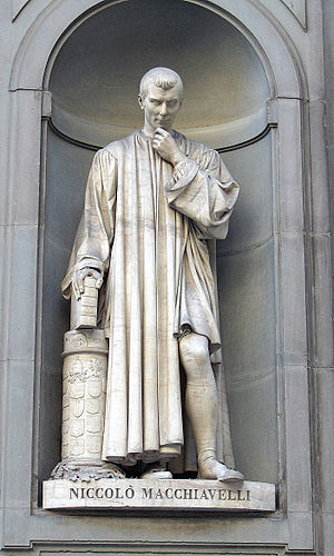 Timeline of Niccolò Machiavelli - Statue of Machiavelli at the Uffizi Gallery in Florence, Italy.