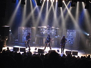 Machine Head (band) - Machine Head performing in Zurich in 2007. From left to right: Phil Demmel, Dave McClain (above), Robb Flynn (below) and Adam Duce.