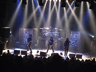 Machine Head (band) - Machine Head performing in Zurich in 2007. From left to right: Phil Demmel, Dave McClain, Robb Flynn and Adam Duce.