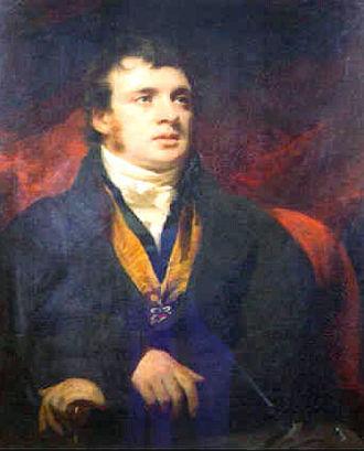 Sir George Mackenzie, 7th Baronet - Sir H.Raeburn. Portrait of Sir G.S.Mackenzie,7th Bart. Size 27x36 in.