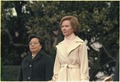 Madame Zhuo Lin and Rosalynn Carter during arrival ceremony for the Vice Premier of China. - NARA - 183167.tif