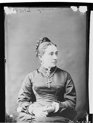 Zoé Laurier - Madame Zoë Laurier, April 1878. By William James Topley in Ottawa.