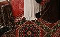 Maestro di st. giles, messa di sant'egidio, 1500 ca. 03 tappeto.jpg