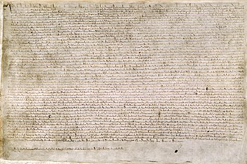 Copy of the Magna Charta from 1215