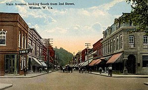 Weston, West Virginia - Image: Main Avenue, Looking South, Weston, WV