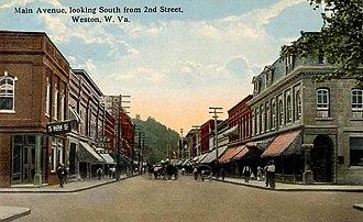 Weston, West Virginia - Image: Main Avenue, Looking South, Weston, WV