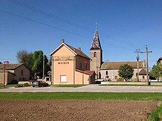 Asnières-sur-Saône - The Town Hall and the Church