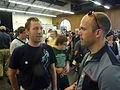 Maker faire 2009 palo alto Jay Walsh and booth visitor 2.jpg