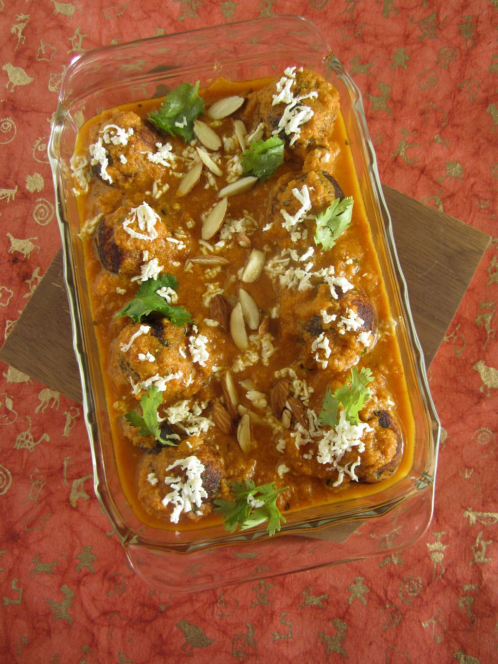 Malai Kofta Garnished and Ready to Eat India