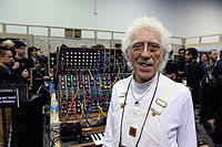 Malcolm Cecil at Moog booth - 2015 NAMM Show.jpg