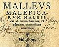 Malleus maleficarum, Köln 1520, Titelseite.jpg