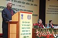"""Mallikarjun Kharge delivering the inaugural address at the International Conference on """"Innovations in Public Employment Programme and Sustainable Inclusive Growth"""", in New Delhi on March 01, 2012.jpg"""