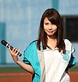 Mana Asizaki reporter of the yokohama BayStars.JPG
