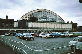 Manchester Central railway station - Central Station car park (1980)