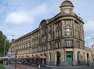 Manchester Victoria station - Station frontage of Manchester Victoria, constructed in 1909