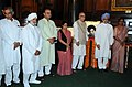 Manmohan Singh, the Speaker, Lok Sabha, Smt. Meira Kumar and other dignitaries paid tributes to the former Lok Sabha Speaker, Sardar Hukum Singh on his birth anniversary, in New Delhi on August 30, 2011.jpg