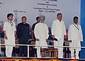Manmohan Singh at the dedication ceremony of NTPC's 2980 MW Rajiv Gandhi Sipat Super Thermal Power Station to the Nation and Foundation Stone laying of 1600 MW Stage-I of NTPC- Lara Super Thermal Power Project, at Sipat.jpg