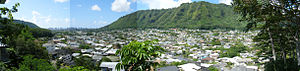 Manoa - Image: Manoa Valley Oahu Pano