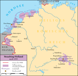 Bavaria-Straubing - Scattered lands of Bavaria-Straubing, 1353-1432