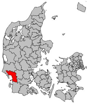 Esbjerg Municipality - Image: Map DK Esbjerg