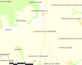 Mapa obce La Celle-sous-Chantemerle