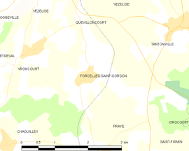 Mapa obce Forcelles-Saint-Gorgon