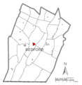 Map of Bedford, Bedford County, Pennsylvania Highlighted.png