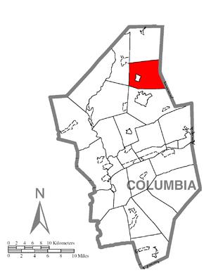 Benton Township, Columbia County, Pennsylvania - Image: Map of Benton Township, Columbia County, Pennsylvania Highlighted