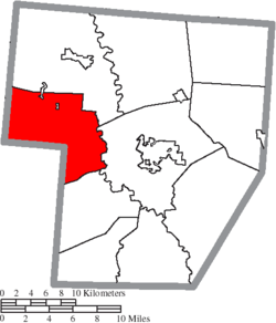 Location of Jasper Township in Fayette County