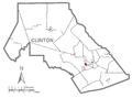 Map of Flemington, Clinton County, Pennsylvania Highlighted.png
