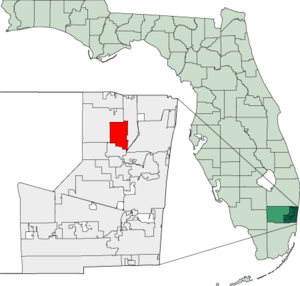 Map of Florida highlighting Margate.png