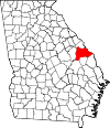 Map of Georgia highlighting Burke County.svg