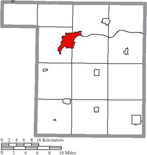 Napoleon, Ohio - Image: Map of Henry County Ohio Highlighting Napoleon City