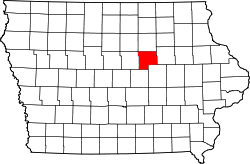 Map of Iowa highlighting Grundy County.svg