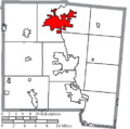Map of Miami County Ohio Highlighting Piqua City.png