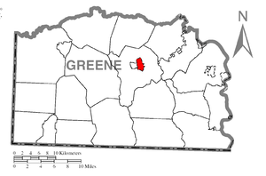 Morrisville, Greene County, Pennsylvania - Image: Map of Morrisville, Greene County, Pennsylvania Highlighted