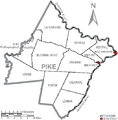 Map of Pike County Pennsylvania With Municipal and Township Labels.png