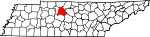 State map highlighting Davidson County