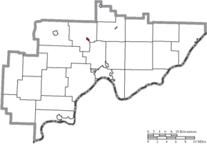 Lowell, Ohio - Image: Map of Washington County Ohio Highlighting Lowell Village