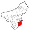 Map of Williams Township, Northampton County, Pennsylvania Highlighted.png