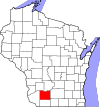 State map highlighting Iowa County