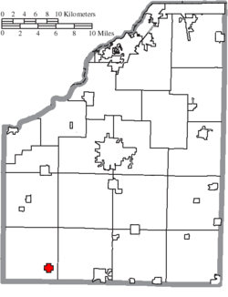 Location of Hoytville in Wood County