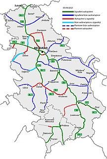 Roads in Serbia