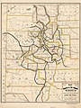 Map of the Denver & Rio Grande Railway, showing its connections and extensions also the relative position of Denver and Pueblo to all the principal towns and mining regions of Colorado and New Mexico. LOC 98688650.jpg