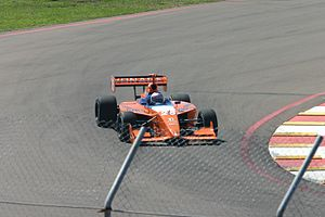 Marco Andretti - Andretti making his Indy Pro Series debut in 2005 on the Streets of St. Petersburg; he won the race.