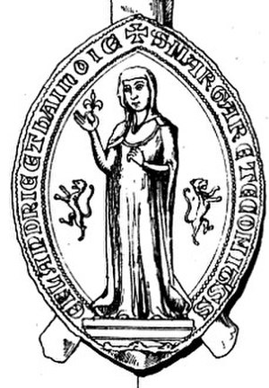 Margaret II, Countess of Flanders - Margaret's Seal as Countess of Flanders and Hainaut.