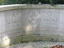 tombe de maria montessori noordwijk aan zee aux pays bas - Maria Montessori Lebenslauf