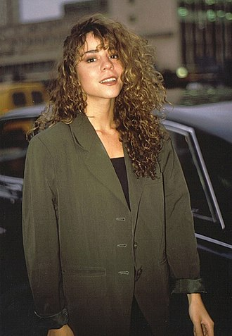 "Mariah Carey - Carey exiting Shepherd's Bush Empire after promoting her single ""Vision of Love"" on Wogan, in 1990"
