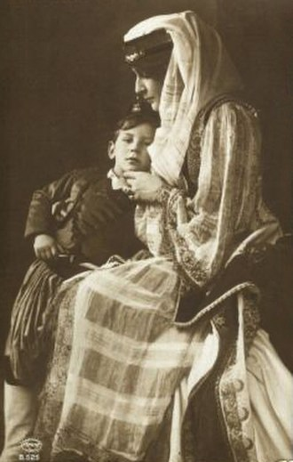 Prince Peter of Greece and Denmark - Princess George and Prince Peter in traditional Greek costume